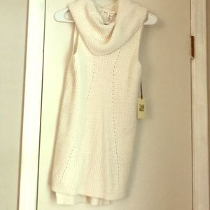 NWT sleeveless cowl neck sweater
